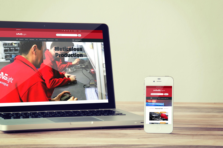 MVS Light Web Tasarımı