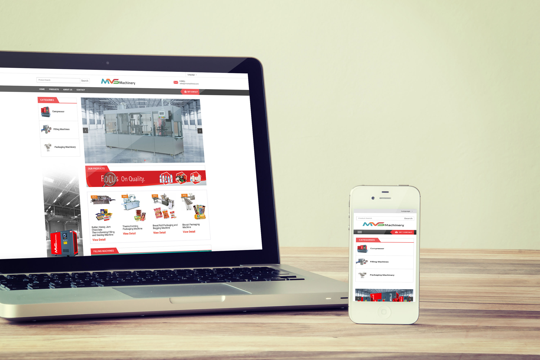 MVS Machinery Web Tasarımı